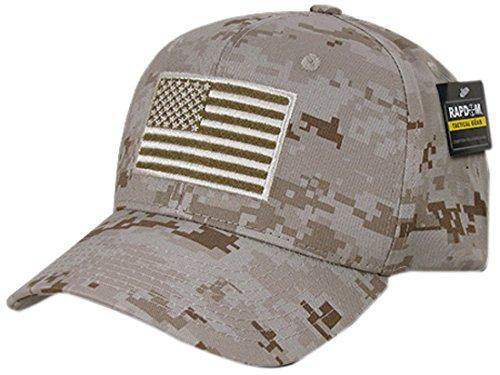 Rapiddominance T76-USA-DES Embroidered Operator Cap, USA, Des, Desert Digital - Miracle Mile Gifts