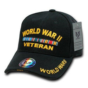 Rapid Dominance WWII Vet Deluxe Military Cap, Black - Miracle Mile Gifts