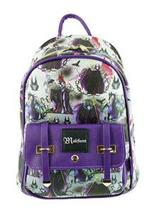 "Disney Villains - Maleficent 11"" Faux Leather Mini Backpack - A18997"