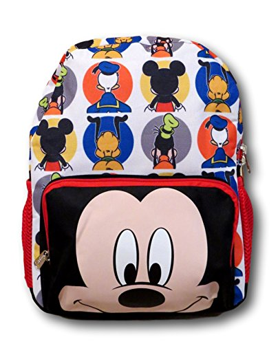 Disney Mickey Mouse Big Face All Over Backpack 16 Inch