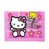 Hello Kitty Trifold Wallet w/ Bear Pink - Miracle Mile Gifts
