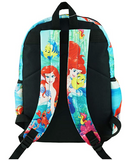 "The Little Mermaid - Ariel Deluxe Oversize Print Large 16"" Backpack with Laptop Compartment - A19608"