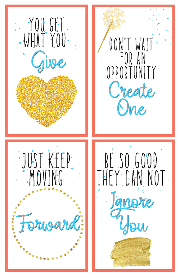 Motivational Cards for Vision/Manifestation Boards