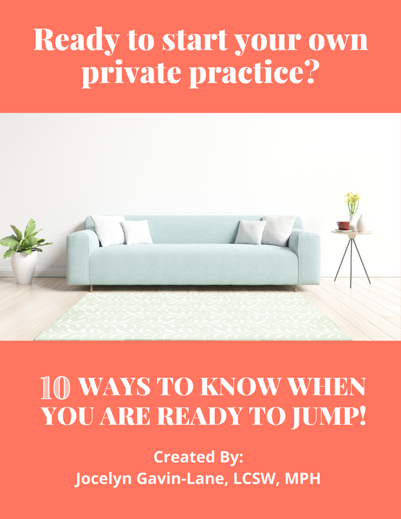 Private Practice Checklist - 10 Things to Consider Before You Take the Leap