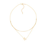Load image into Gallery viewer, Gold Double Chain Initial Neckalace