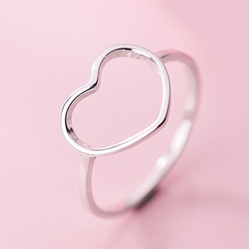 ASHLYNN Hollow Heart Ring