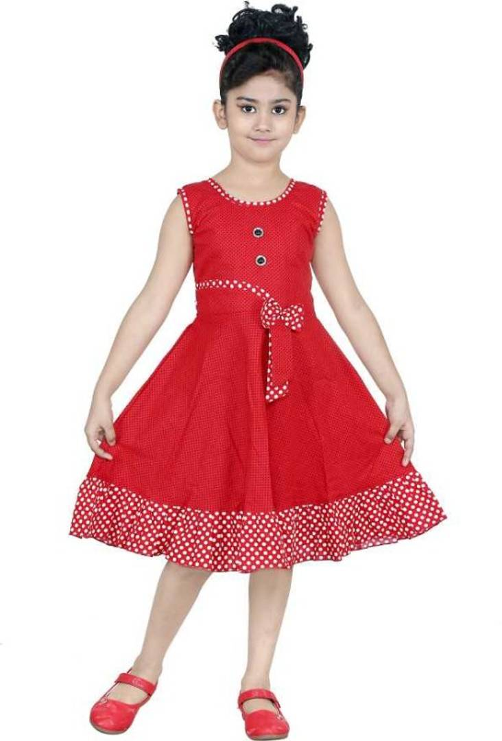 ULTRA TREND RED COTTON FROCK