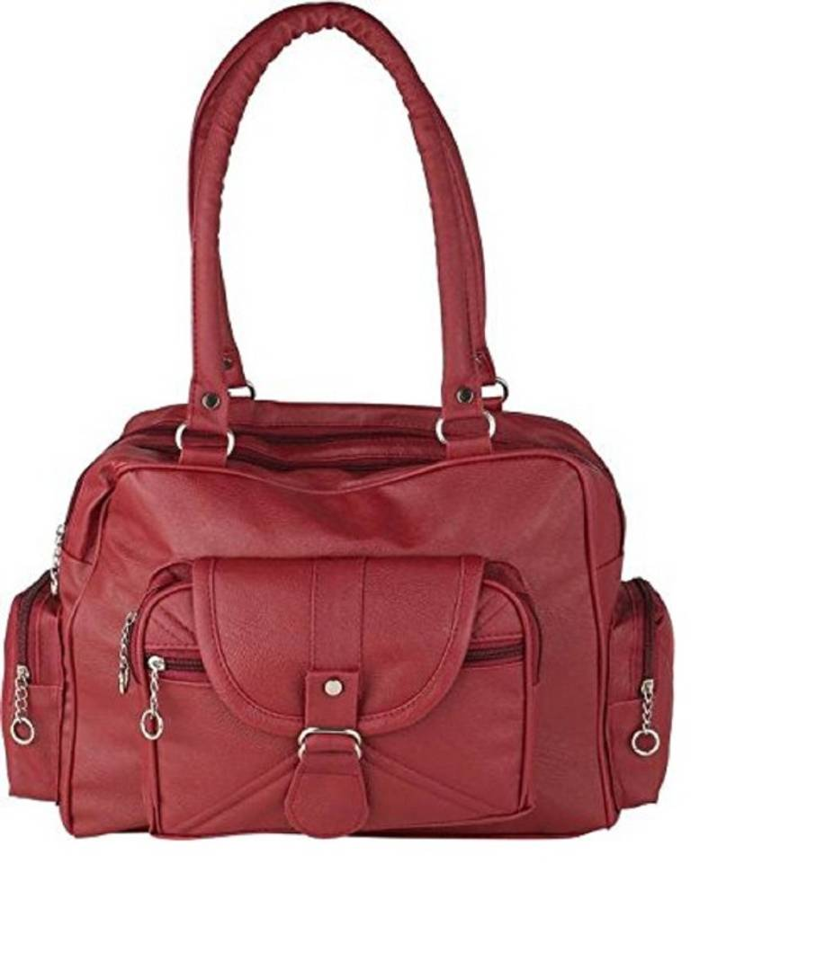 Maroon handbags