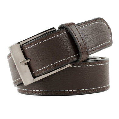 Brown Leather Formal Belt For Men's
