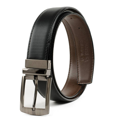 Black Leather Formal Belt For Men's