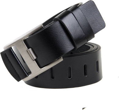 Black Leatherette Casual Belt For Men's