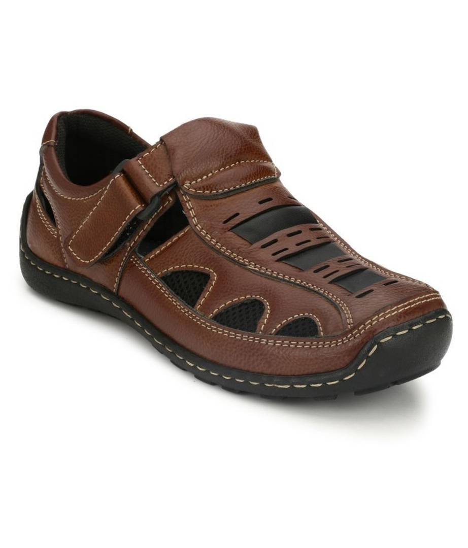 Men's Brown Synthetic Sandal