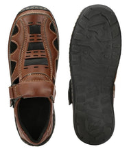 Load image into Gallery viewer, Men's Brown Synthetic Sandal
