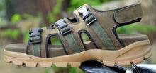 Load image into Gallery viewer, Olive Synthetic Self Design Comfort Sandals for Men's