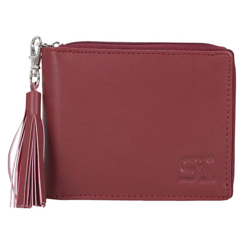 Maroon Artificial Leather Solid Wallet