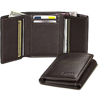 Men's Leatherette Short Length Three Fold Wallet