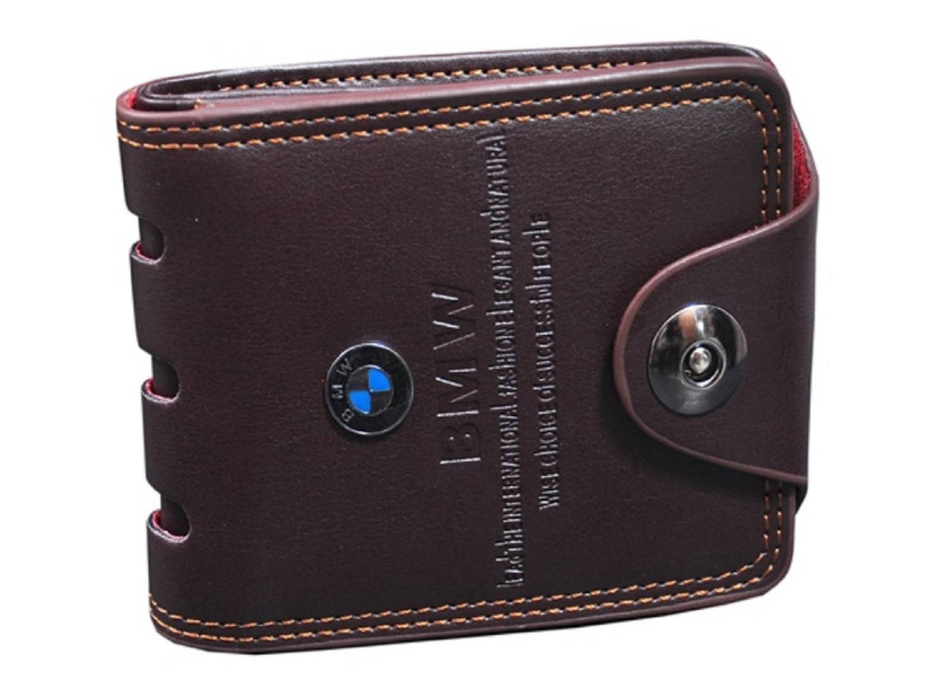 Men's Leatherette Short Length Two Fold Wallet