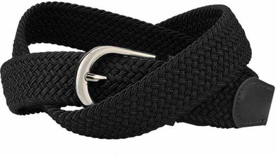 Fancy Black Canvas Casual Belt