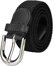Load image into Gallery viewer, Fancy Black Canvas Casual Belt