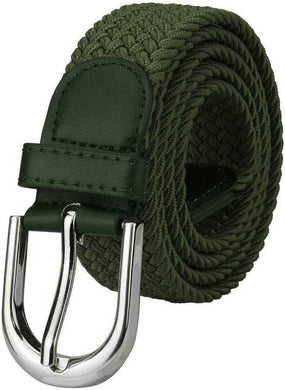 Fancy Green Canvas Casual Belt