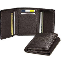 Load image into Gallery viewer, Men's Leatherette Short Length Three Fold Wallet