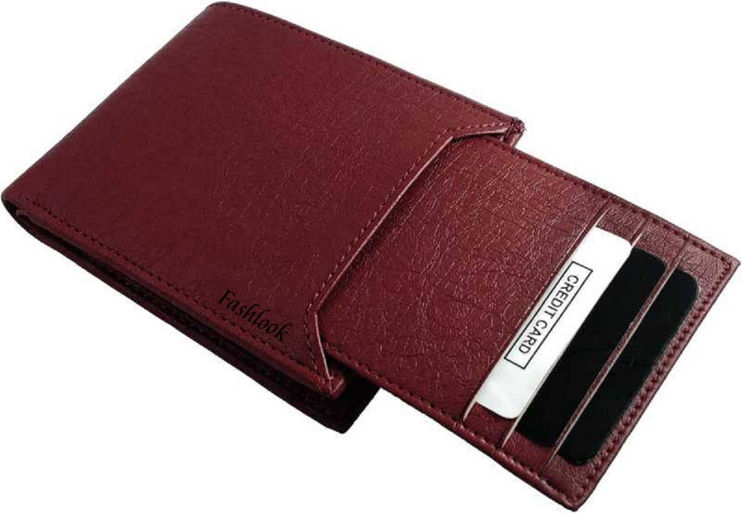 Men's Brown Leatherette Two Fold Wallet