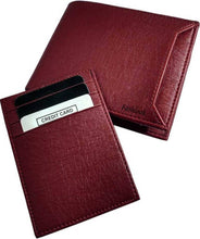 Load image into Gallery viewer, Men's Brown Leatherette Two Fold Wallet