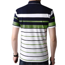 Load image into Gallery viewer, Seven Rocks Men's Multicoloured Striped Cotton Polos