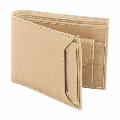 Beige Men's  Causal PU Leather Wallet (FC-MW-043)