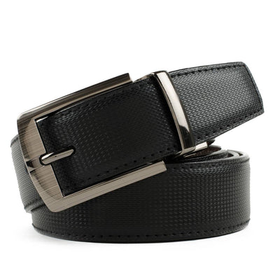 Elegant Black Leather Casual Belt