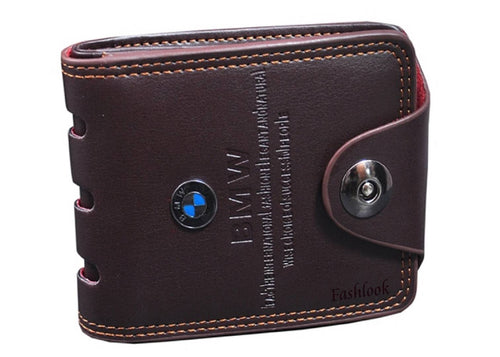 Brown Genuine Leather Three Fold Wallet