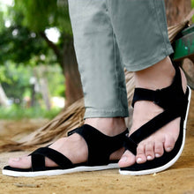 Load image into Gallery viewer, Smart & Trendy Black Suede Outdoor Sandals for Men