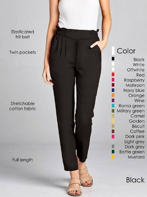 Stretchable Cotton Relax Pant For Women's