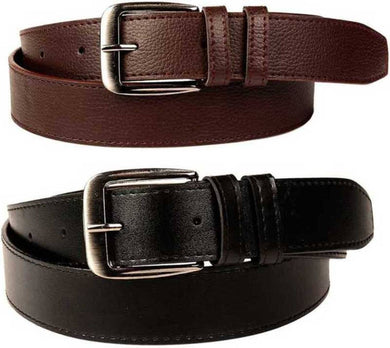 Men's Combo of 2 Artificial Leather Formal Belts
