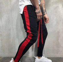 Load image into Gallery viewer, Men's Black Cotton Self Pattern Regular Fit Joggers