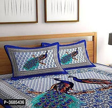 Load image into Gallery viewer, Pure Cotton Made Abstract Design Printed King bedsheet With Two MatchinG Pillow Covers