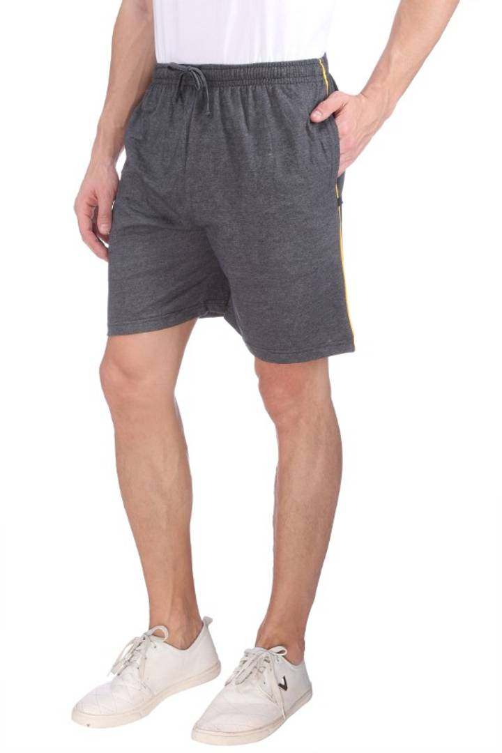 Men's Cotton Long Shorts for All Fitness Activities. (CARBON).