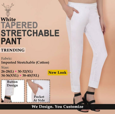 Stylish Cotton Stretchable Solid Ethnic Pant For Women