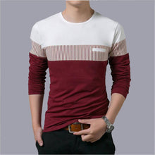 Load image into Gallery viewer, Men's Multicoloured Cotton Self Pattern Round Neck Tees