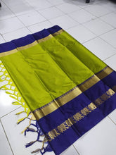 Load image into Gallery viewer, Original Soft cotton silk saree with elephant  design