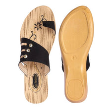 Load image into Gallery viewer, Trendy Black Synthetic Sandal For Women