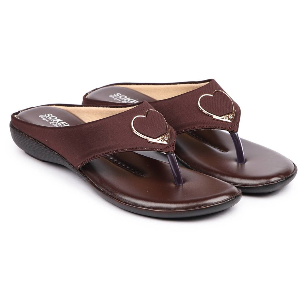 Women's Stylish Brown Synthetic Sandals