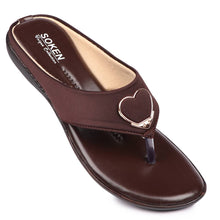 Load image into Gallery viewer, Women's Stylish Brown Synthetic Sandals