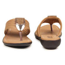 Load image into Gallery viewer, Women's Stylish Beige Synthetic Sandals