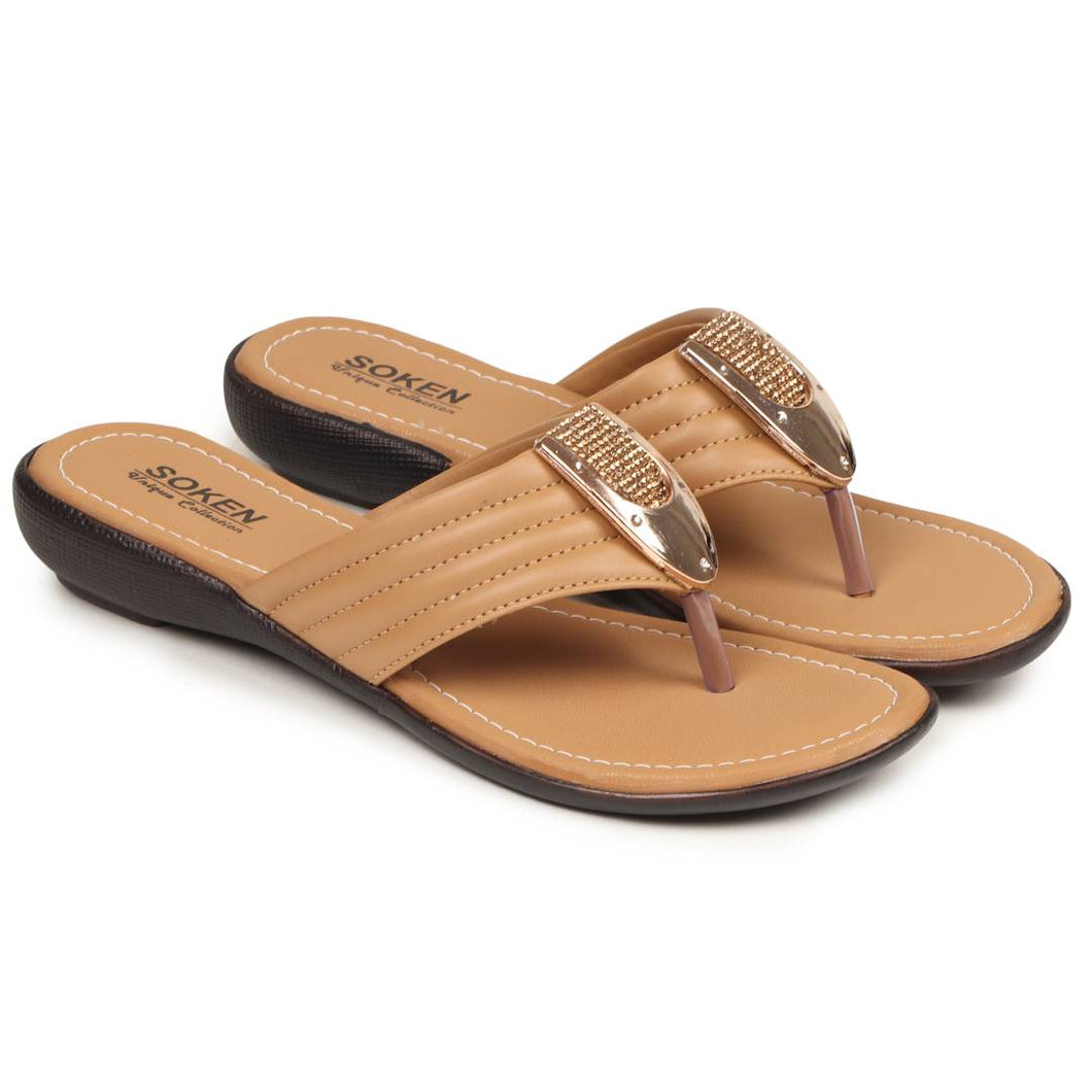 Women's Stylish Beige Synthetic Sandals