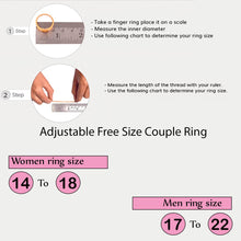 Load image into Gallery viewer, Combo Golden Color Adjustable Couple  Rings