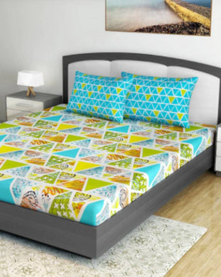 FasHome 144 TC Cotton 1 Queen Bedsheet with 2 Pillow Covers