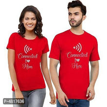 Load image into Gallery viewer, Digital Printed Cotton Blend Couple t-shirts
