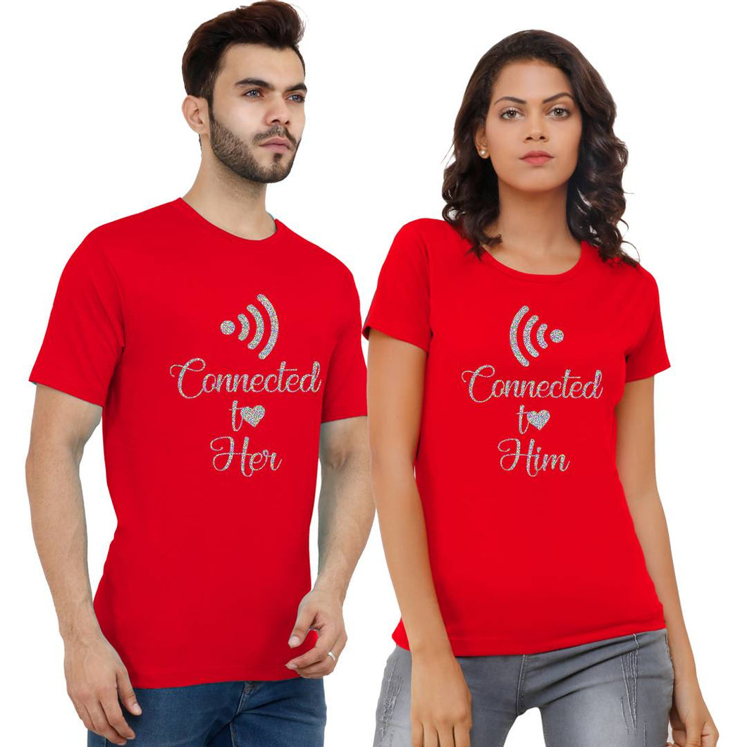 Digital Printed Cotton Blend Couple t-shirts