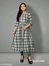 Load image into Gallery viewer, Sarika Checked Cotton Kurtis